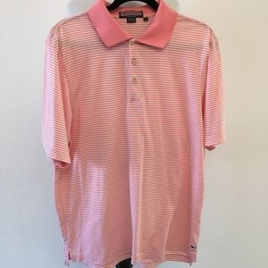 Vineyard Vines Men Pink Striped Polo Shirt Size L